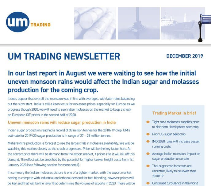 Um Trading Newsletter December 2019